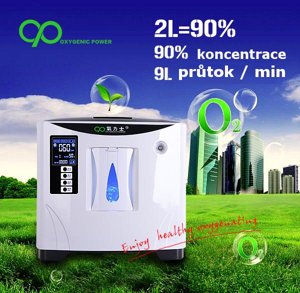 Kyslíkový koncentrátor, dýchací přístroj XY-1S POWER 9L - 90 %
