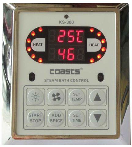 Parní generátor, vyvíječ páry pro saunu KSB-45CD s ovládacími panely KS-300 a KS30A