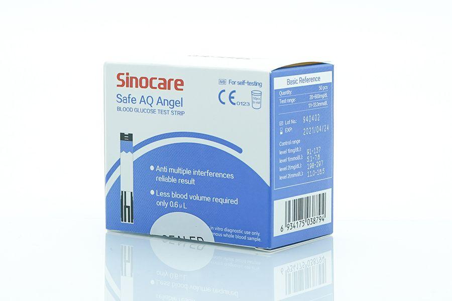 Sinocare doplňkový set: Lancety 50 ks + testovací proužky 50 ks pro glukometr Safe AQ Angel